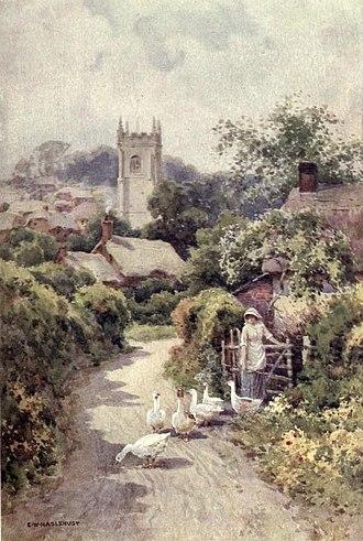Ernest William Haslehust - Bere Regis, Dorset (Watercolour, 1910)