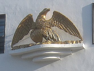 Consulate of the United States, Liverpool - Close-up view of the restored eagle at Paradise St