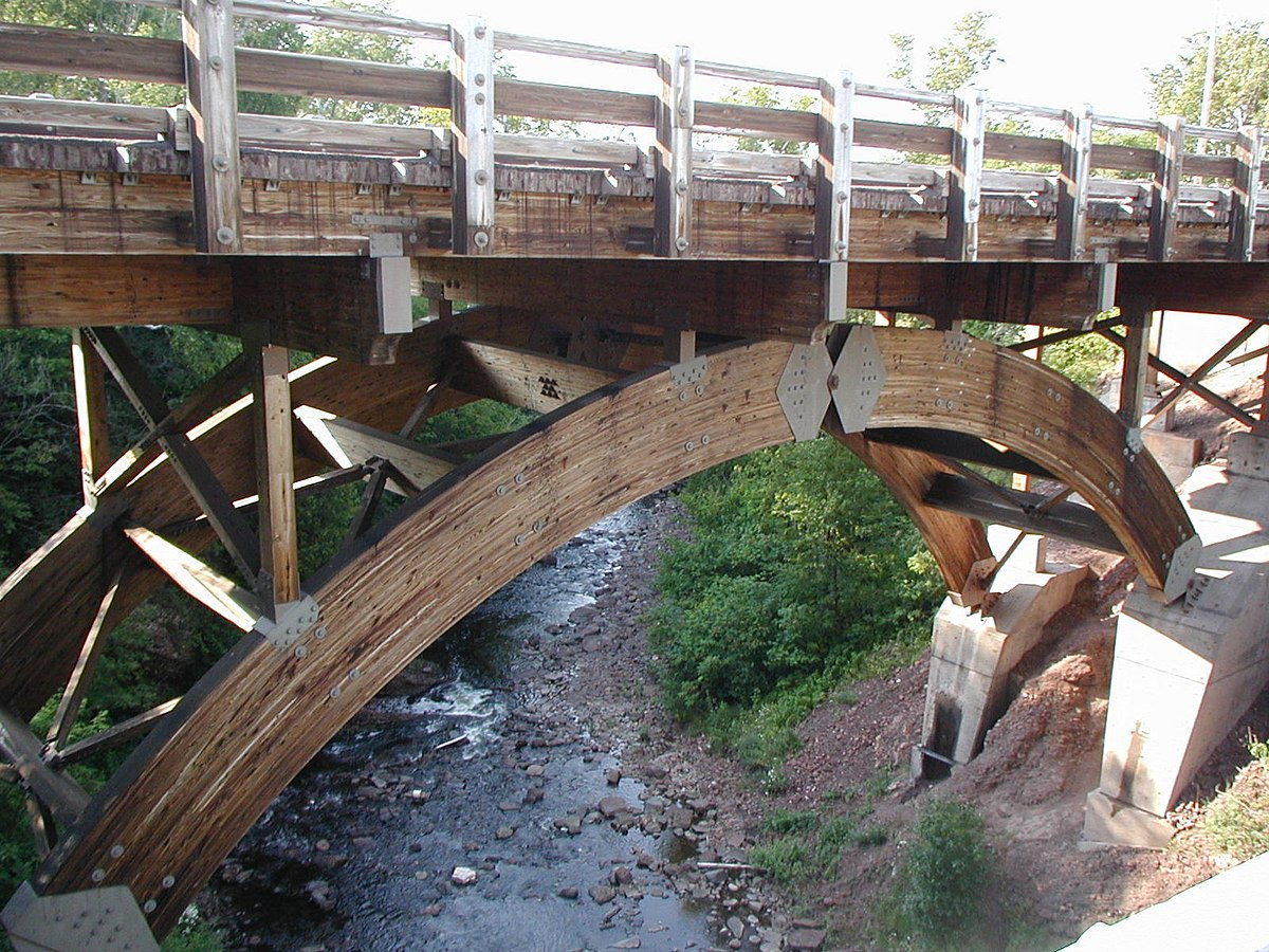 Eagle river timber bridge wikipedia for Timber frame bridge