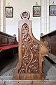 Eberstein Sankt Walburgen Pfarrkirche hl Walburga geschnitzte Bankwange 11032014 667.jpg