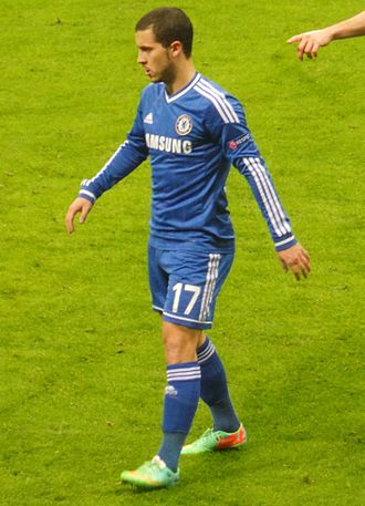Eden Hazard - Hazard playing against Galatasaray in a UEFA Champions League match in February 2014
