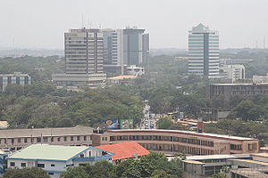 Telecommunications in Ghana - Image: Edificios de los Medios de comunicación en Ghana (Panomara of Media Buildings in Ghana)