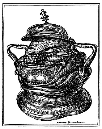 E. J. Sullivan - Sullivan's illustration for Quatrain 64 of Edward Fitzgerard's First Version of the Rubaiyat of Omar Khayyam.