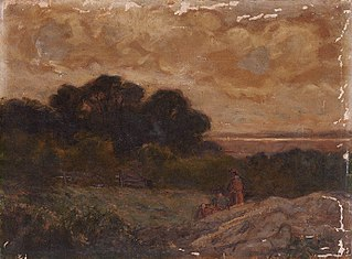 Untitled (Landscape with Two Women Reclining on Rocks)
