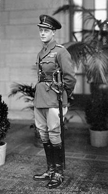 Edward, Prins af Wales fotograferet i Ottawa i Canada i 1919