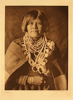 Retrat zuni per Edward Curtis