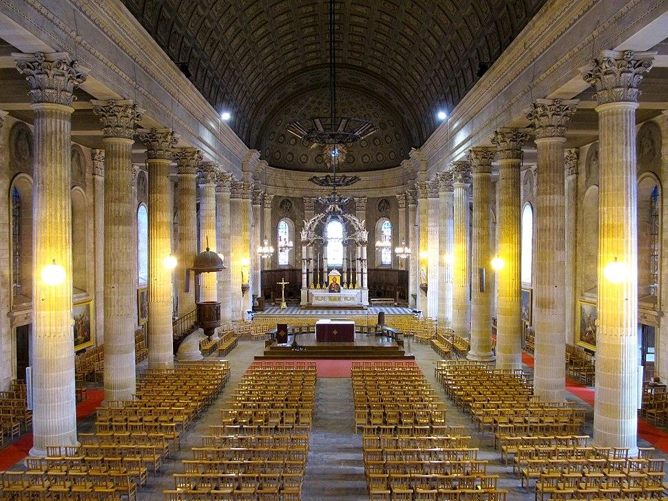 Eglise Saint-Louis de La Roche-sur-Yon depuis l'orgue