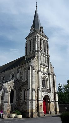 Photographie du clocher de l'église.