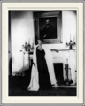 Eleanor Roosevelt at Her Cousin Alice Roosevelt Longworths Home in DC - TR Sr on Mantle.png