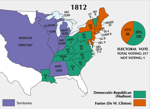 1812 in the United States - Results from the 1812 U.S. presidential election