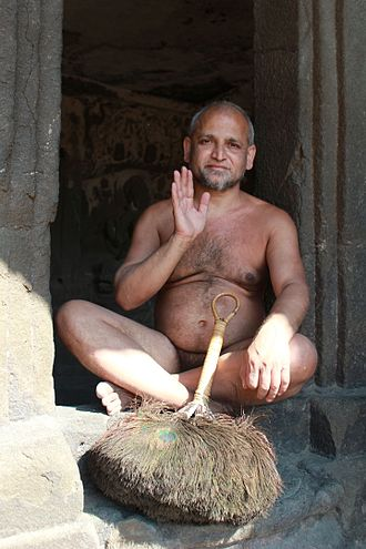 Monasticism - Digambara Jain monks renounce all clothing.