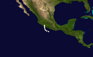 1963 Pacific hurricane season - Image: Emily 1963 track