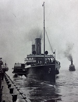 SS Empress Queen - Empress Queen pictured arriving at the Prince's Landing Stage, Liverpool.