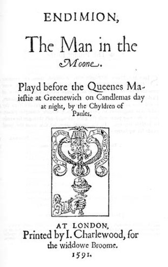 Endymion (play) - Title page of Endymion, the Man in the Moon.