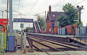 Enfield Lock railway station - View southward, towards Tottenham Hale and London