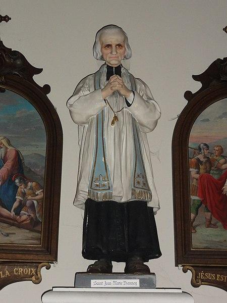 Englefontaine (Nord, Fr) église Saint-Georges, statue Curé d'Ars