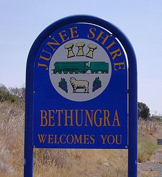Bethungra, New South Wales - Entering Bethungra