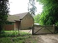 Entrance to a modern building adjoining the Ridgeway at Chivery - geograph.org.uk - 1320655.jpg