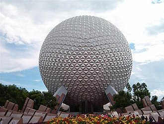 Geodesic dome - Spaceship Earth at Epcot.