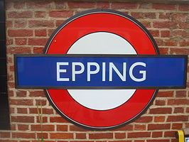 Epping tube station roundel.JPG