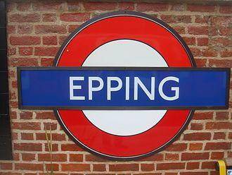 Epping tube station - Image: Epping tube station roundel