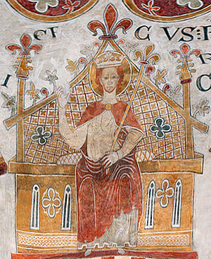Eric IV of Denmark - Church fresco in St Bendt's Church, Ringsted.