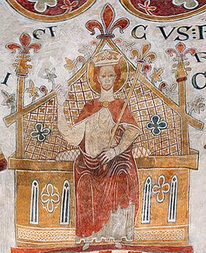 Eric IV of Denmark - Church fresco in St Bendt's Church, Ringsted.