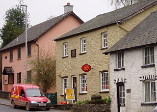 Erwood village in the county of Powys, Wales