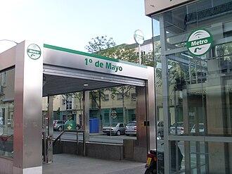 1º de Mayo (Seville Metro) - Image: Estación 1demayodesdelacalle