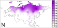 Eurasian frequency distributions of Y-chromosome haplogroups N.png