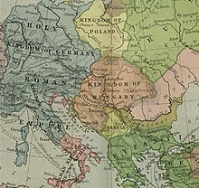 Map of 12th-century Kingdom of Hungary