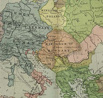 Kingdom of Hungary - Hungary (including Croatia) in 1190, during the rule of Béla III