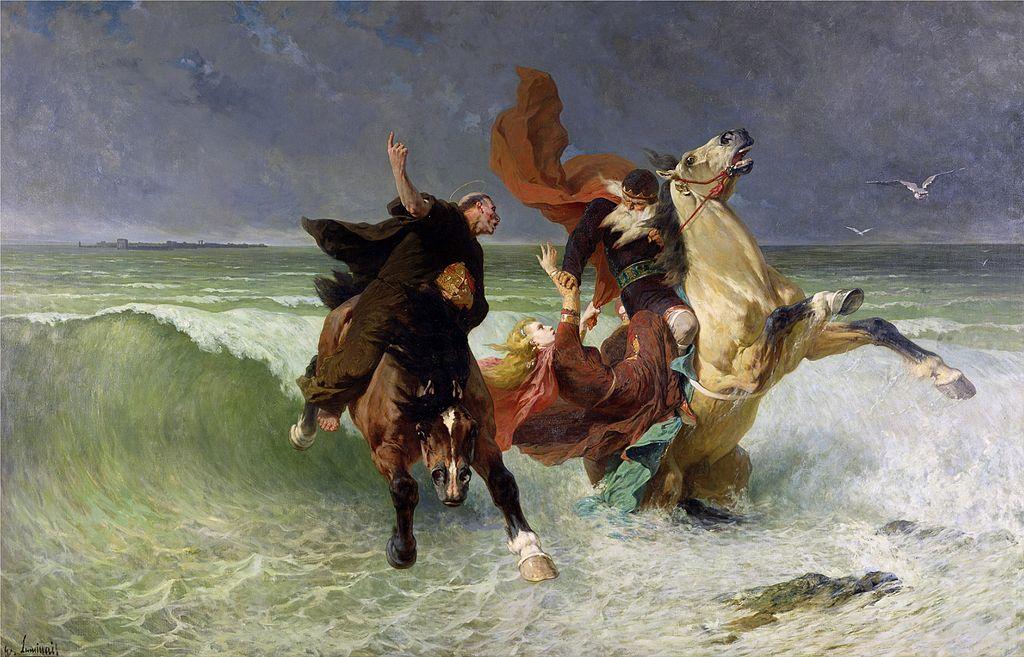 Évariste Vital Luminais - The Flight of Gradlon Mawr