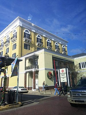 Natchitoches, Louisiana - Exchange Bank in Downtown Natchitoches