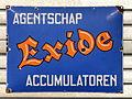 Exide enamel advert sign at the den hartog ford museum.JPG