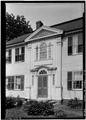 Exterior, detail of entrance feature from north east. - Elisha Payne House, Canterbury, Windham County, CT HABS CONN,8-CANBU,1-3.tif