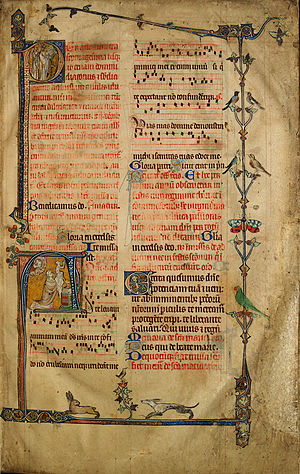 Missal - A page from the Sherbrooke Missal, one of the earliest surviving Missals of English origin