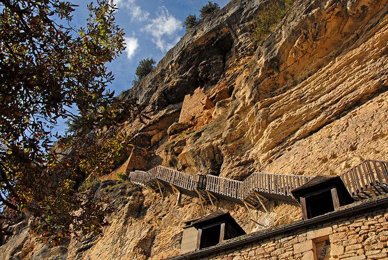 Лестница к пещерам троглодитов, La Roque-Gageac - La Roque-Gageac (Ла-Рок-Гажак)