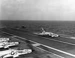 F11F VF-33 landing on USS Intrepid (CVA-11) 1959.jpg