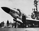 F3H-2 Demon of VF-124 on catapult of USS Lexington (CVA-16) in 1957.jpg