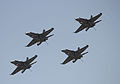 FA-18 Hornets formation flying over Avalon International Airshow 2011.jpg