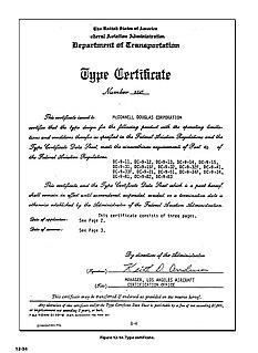 Type certificate