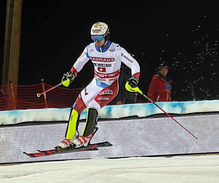 File Fis Alpine Skiing World Cup In Stockholm 2019 Loic Meillard Jpg Wikimedia Commons