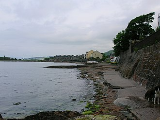 Fairlie, North Ayrshire - Image: Fairlie Bay looking towards Largs