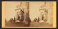 Family posing in front and in the balcony of stone house, from Robert N. Dennis collection of stereoscopic views 3.png