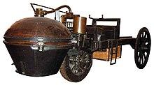 Le fardier de Cugnot, modèle de 1771 (source wikipedia)