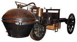 "History of steam road vehicles - Nicolas-Joseph Cugnot's ""Fardier à vapeur"" (""Steam wagon"")(1769)"