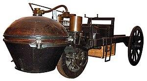 Cugnotovo parno vozilo, model iz 1771