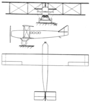 Farman F.70 3-view Les Ailes October 27,1921.png