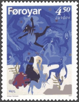 William Heinesen - Image: Faroe stamp 309 the temptations of saint antony